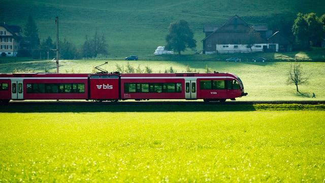 Ein Zug der BLS