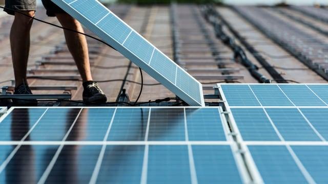 Solarpanels auf einem Dach