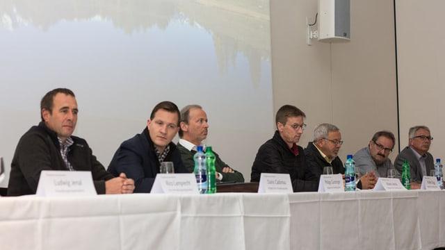 Il cussegl administrativ da la TESSVM SA, da sanestra; Rico Lamprecht, Dario Cadonau, Philipp Gunzinger, Mario Jenal, Walter Zegg, Victor Peer e Christian Fanzun.