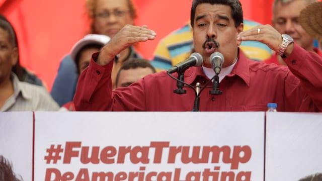 Maduro bei einer Rede