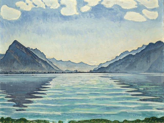 Ferdinand Hodler: Thunersee mit symmetrischen Spiegelungen (1905)