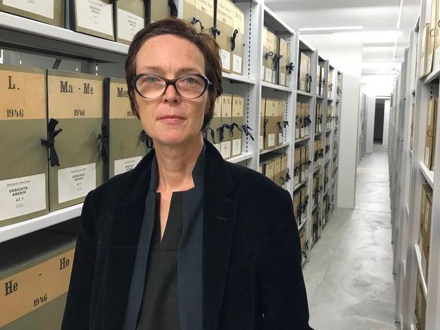 Staatsarchivarin Esther Baur.