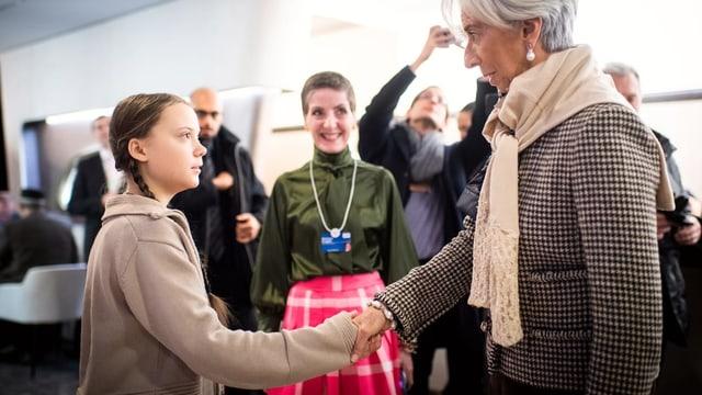 Thunberg e Lagarde sa salidan.