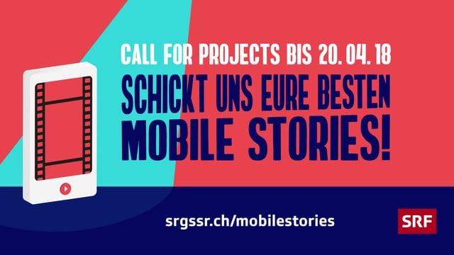 Grafik zum aktuellen Mobile Stories-Wettbewerb