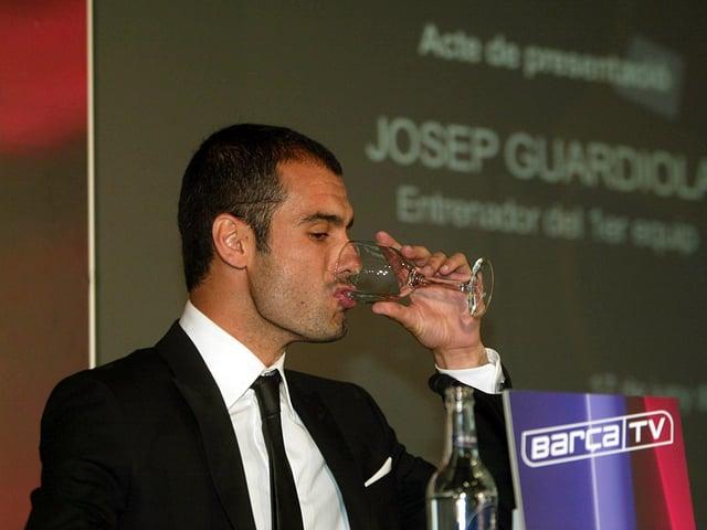 Guardiola bei seiner Vorstellung