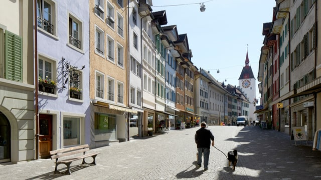 Symbolbild: Aufnahme der Innenstadt von Bremgarten.