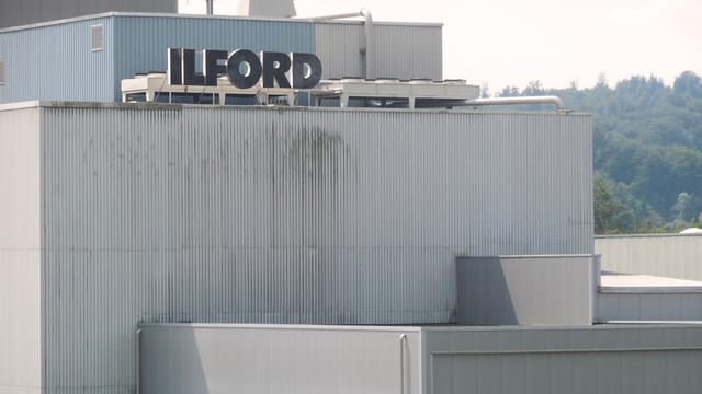 Die Ilford-Firma mit dem Logo