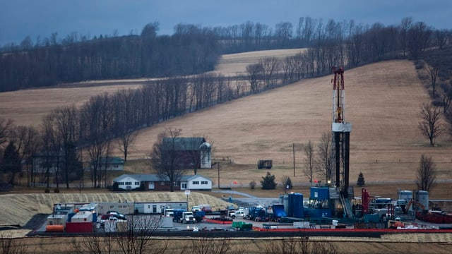 Fracking-Bohrturm in den USA
