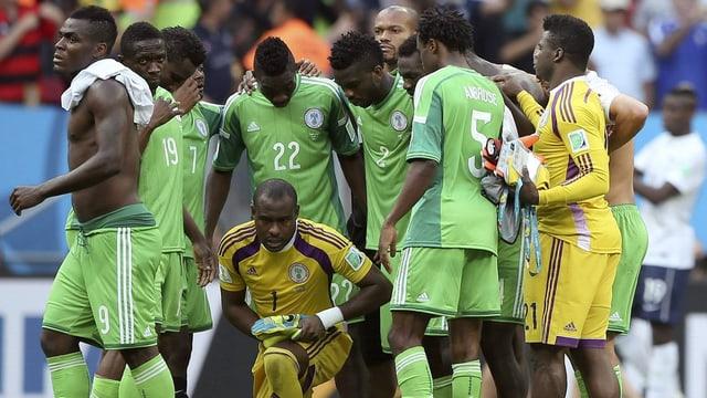 Nigerianische Nationalspieler.