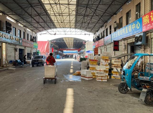 Der neue Markt in Wuhan.