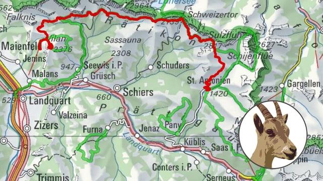 Karte mit Seeinbock-Logo