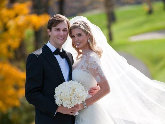 Jared Kushner und Ivanka Trump auf ihrer Hochzeitsfotografie.
