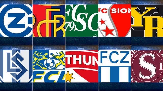 Logos Super-League-Klubs
