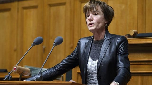 Ruth Humbel spricht im Nationalrat