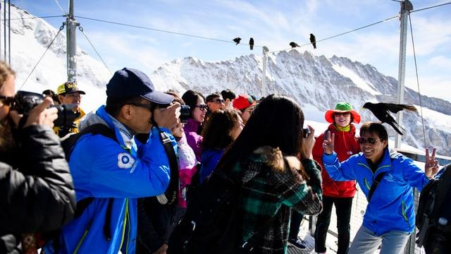 Japaner auf dem Jungfraujoch.