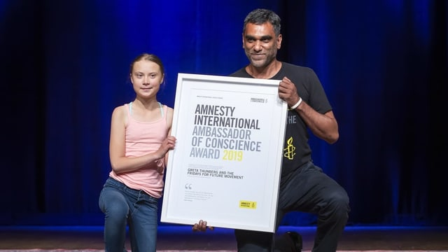 Greta Thunberg survign surdà il premi d'in um.