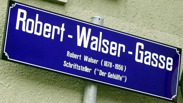Schild Robert-Walser-Gasse