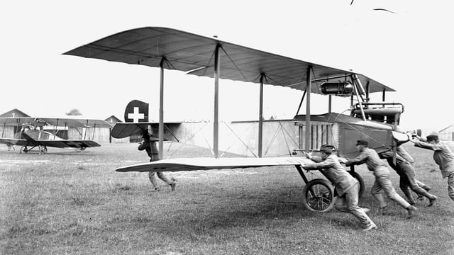 Eine Haefeli-Maschine nach dem Ersten Weltkrieg.