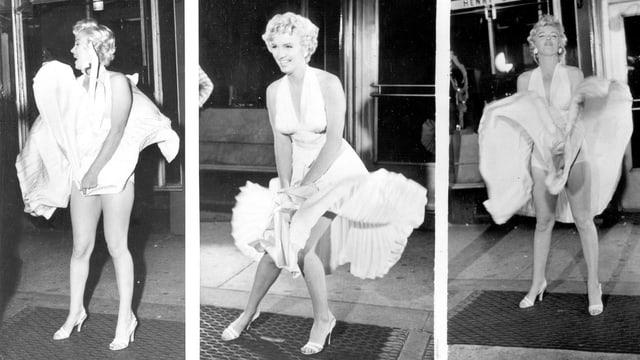 Schauspielerin Marilyn Monroe während den Dreharbeiten zu «The Seven Year Itch»