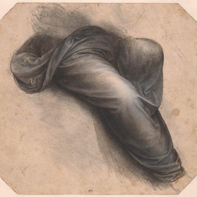 Zwei skizzierte Hosenbeine, mit Textil bedeckt.