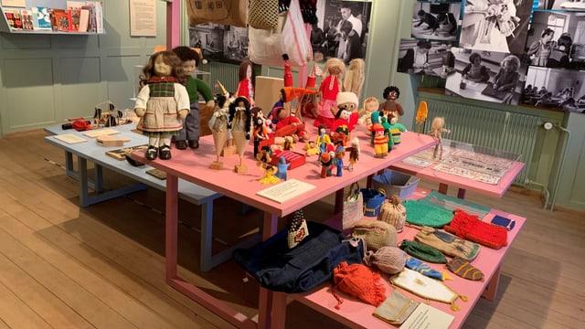 Ein Teil der Ausstellung Fleiss und Schweiss im Schulmuseum in Amriswil.