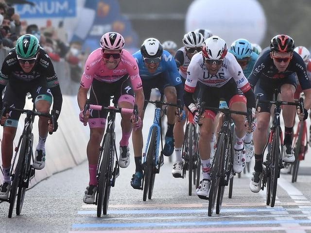 Die Fahrer am Giro d'Italia.