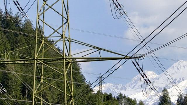 Ina pitga electrica e muntognas davostiers.