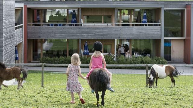 Kinder auf Ponys