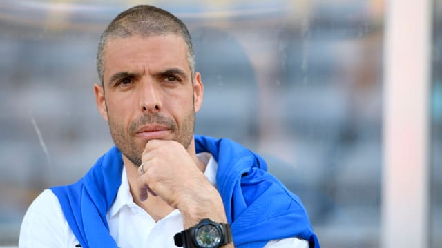 Fabio Celestini durant il gieu cunter Lucerna che Lausanne Sport ha pers 0:1.