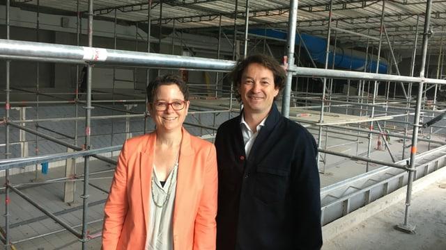 Janine Bunte ed André Gisler, directur da turissem FLF