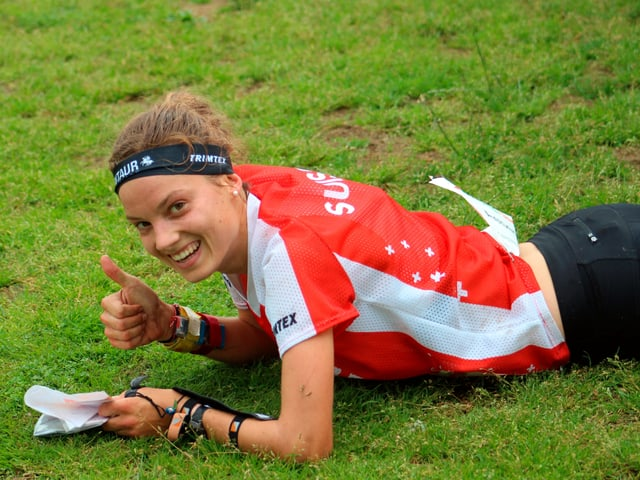 Simona Aebersold an der WM in Norwegen
