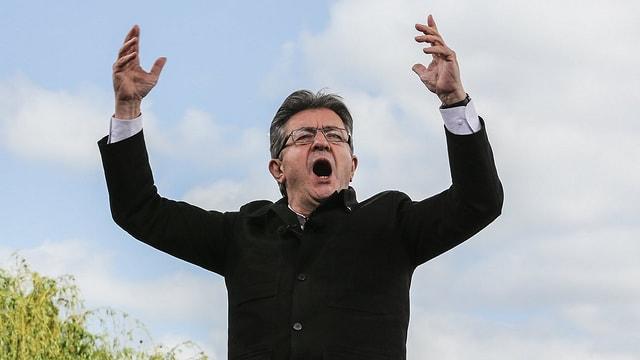 Jean-Luc Mélenchon während einer Rede