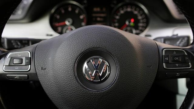 Il cockpit d'in auto da VW.