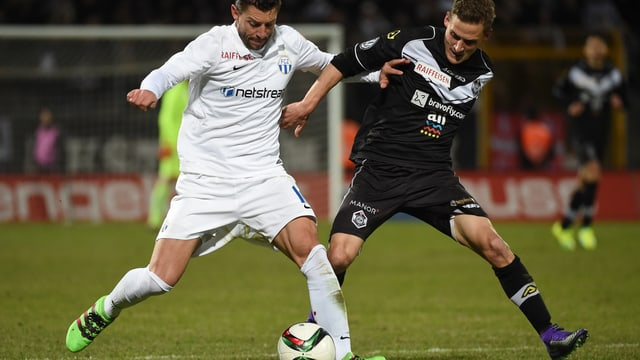 Fussballspieler von Lugano und Zürich