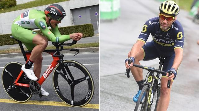 Stefan Küng und Michael Albasini treten in die Pedalen.