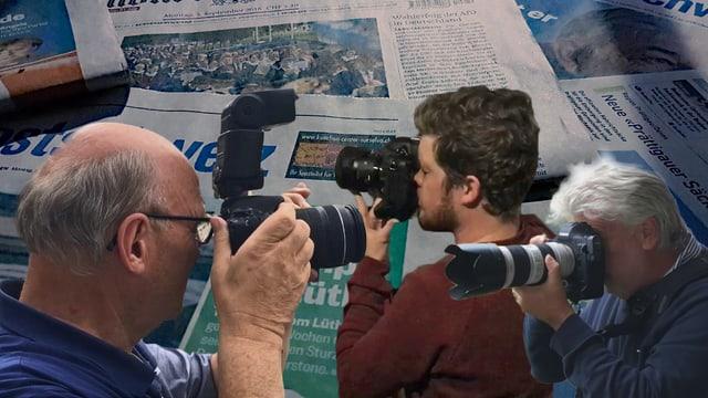 La scena da fotografs da pressa en il Grischun è plitost pitschna.