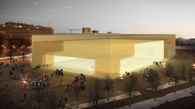 Illustration der neuen Halle.