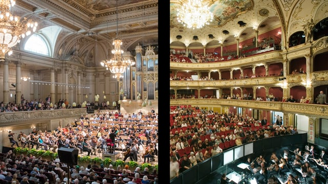 Totale der beiden Orchester nebeneinander