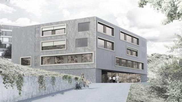 Blick auf das Baumodell der neuen Kinder- und Jugendpsychiatrie in Liestal