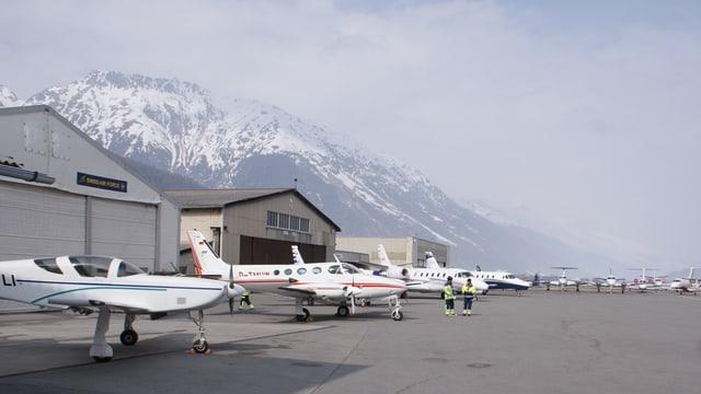 Plazza aviatica da Samedan.