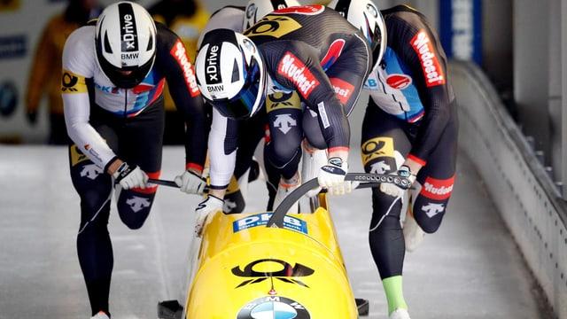 Francesco Friedrich und Teamkollegen