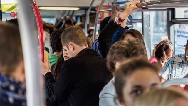 En in bus
