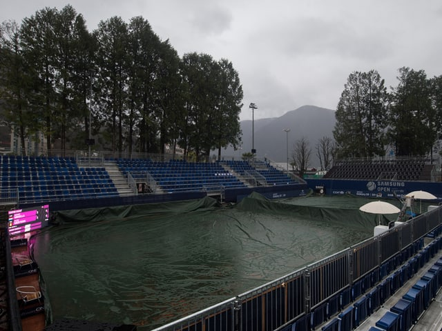 Abgedeckte Tennisplätze in Lugano.