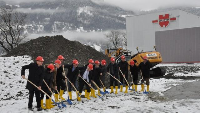 Emprima badigliada per il nov center logistic da la Würth a Landquart