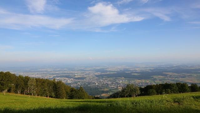 Blick vom Weissenstein ins Mittelland