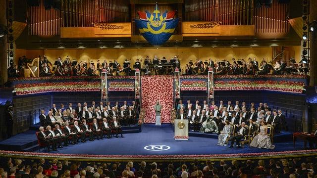 Nobelpreisträger in Stockholm