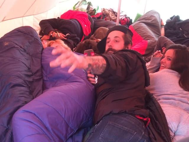 Andi Rohrer im Zelt