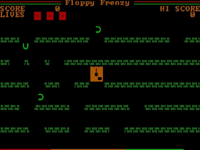 Eine Spielszene aus dem MS-DOS-Game «Floppy Frenzy»