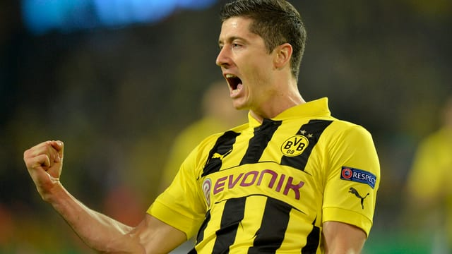 Robert Lewandowski schoss Dortmund mit 10 Toren fast im Alleingang ins Endspiel.
