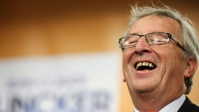 Porträt Jean-Claude Juncker lachend